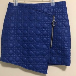 Unique ASOS Faux wrap Quilted Skirt S 10 Like New!